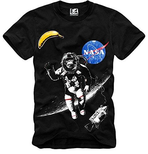 E1Syndicate T Shirt NASA Space Monkey Ape Geek Hipster Nerd Astronaut