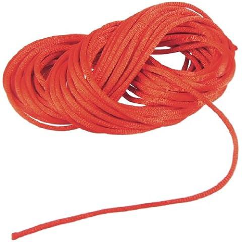 Rojo trenzado de hilo de Nylon flavoproteína nudo chino cola de rata cable 8,2 m