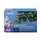 Benross The Christmas Lights 100 Ultra Bright LED String Chaser Lights - Multi-Coloured