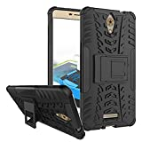 Kaira Tough Hybrid Armor Back Cover Case with Kickstand Back Case Cover For Xiaomi Coolpad Mega 2.5D (Black)