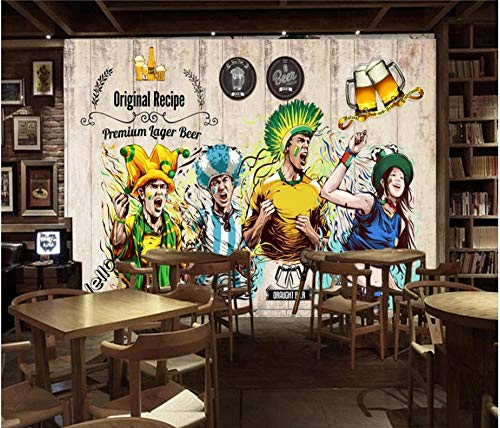 Tapete Wandbild 3D Ethnischen Stil Bier Bar Restaurant Hintergrund Wandmalerei Benutzerdefinierte Beliebige Größe - Mickeys Bier
