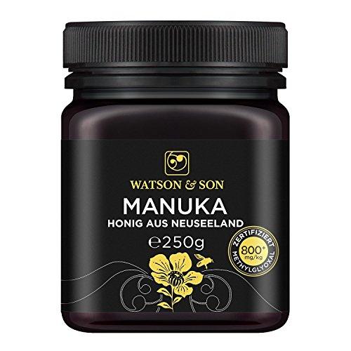 Miel de Manuka MGO 800+ 250g de Watson & Son | Qualité Premium certifiée de Nouvelle-Zélande