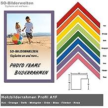 2. Wahl Holz Bilderrahmen 21x29,7cm DIN A4 Flieder Inklusive Bruchsicherem  Acrylglas (Kunstglas Idea