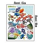 Zuolanyoulan Fische Wasserwelt im Ozean Unterwasserwelt Hai Fisch Meerestiere Wandsticker Wandaufkleber Raum Dekor Wall Sticker - 5