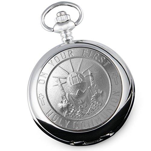 Jungen-Taschenuhr zur Erstkommunion, Geschenk mit Geschenkbox, Erstkommunion-Geschenke
