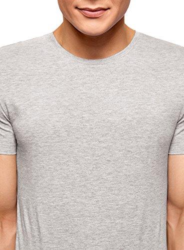 oodji Ultra Herren Tagless T-Shirt Basic (3er-Pack) Mehrfarbig (1907N)