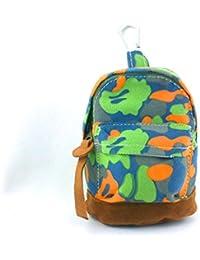 1 Porte monnaie en forme de sac à dos avec mousqueton pour garçon - Motif camouflage - Modèles aux choix - Dim. : 12X9X6 cm