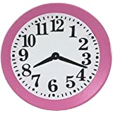 Reloj de pared en miniatura accesorio para casa de muñecas en rosa para cocina 5045