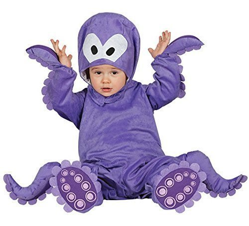 Mädchen Octopus Baby Kostüm - Fancy Me Baby Mädchen Junge Lila Octopus Meerestiere Verkleidung Kostüm Kleidung 6-12-24 Monate - 12-24 Months