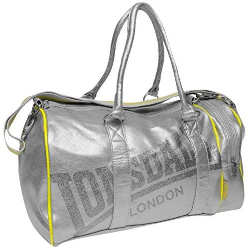 Lonsdale-Bolsa de deporte (para plata bolso-Mochila para niños Gymbag, plata
