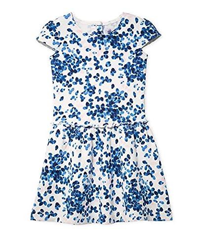 Petit Bateau Girl's Fusion Dress, Multicoloured (Lait/Multico), 10 Years (Manufacturer Size:10A 10 ANS)