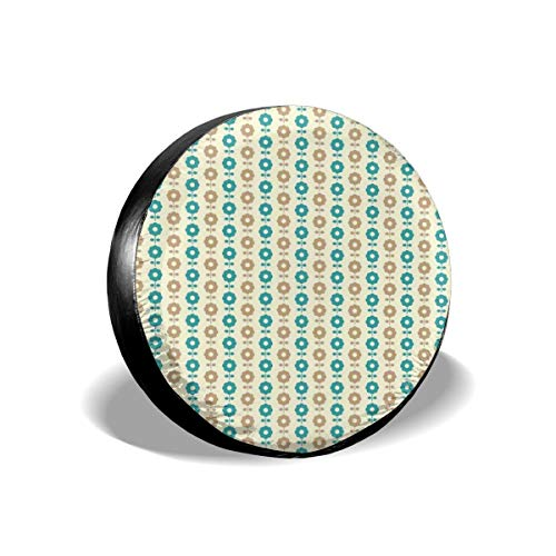 BBABYY Tire Cover Tire Cover Wheel Covers,Abstract Daisy Flowers Nostalgic Simple Graphic Motifs Garden,for SUV Truck Camper Travel Trailer Accessories 16 inch