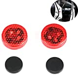 Hrph 1 Paar-Art und Weise LED-Auto-Tür-Warnlicht-wasserdichte Anti-Kollisions-Lichter-Explosion-blinkende Sicherheit Auto Warn-Lampe
