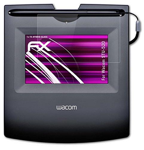 Wacom STU-520 Glasfolie - atFoliX FX-Hybrid-Glass hartbeschichtete elastische 9H Kunststoffglas Folie -...