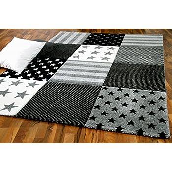 Taille:80x150 cm Maui Kids motif /étoiles gris Tapis pour enfant