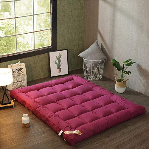 Full-futon-matratze (LJ&XJ Faltbare Verdickung Tatami Matratze, Ultra Soft Atmungsaktiv Japanische Futon Floor Matte Tragbarer Student Schlafsaal Klappbare Matratze-c Full)