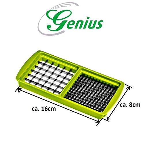Neu Ersatzteile für Genius - Nicer Dicer Plus: Grund-Deckel - Hobeleinsatz - Messereinsätze - Sparschäler - Behälter - Deckel alles in verschiedene Farben (6mm x 6mm und 12mm x 12mm, Kiwigrün)