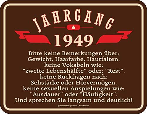 schild zum 70. Geburtstag Jahrgang 1949 ()