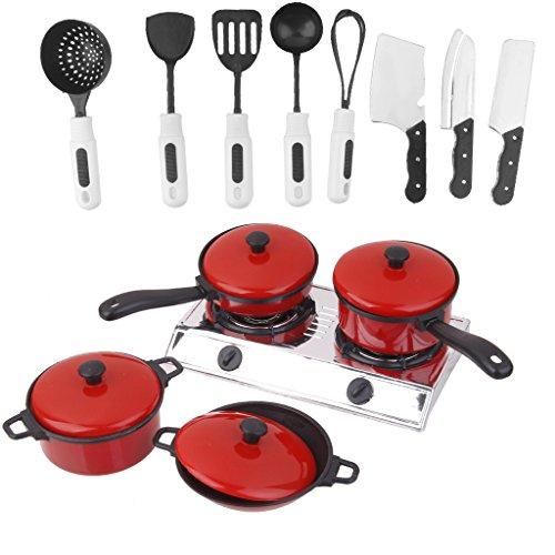 Preisvergleich Produktbild Generic Kinderspielzeug Aus Kunststoff Puppenküche Kochtopf-Set Löffel / Messer / pan / pot / Gasherd, usw.