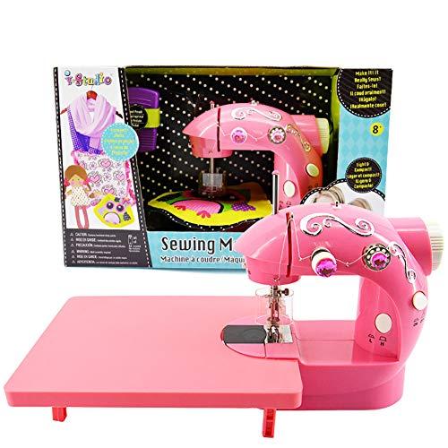 AMNFJ Multi-Funktion Haushalt Elektrisch Mini Kinder Spielzeug Nähen Maschine, Das Ideal Mädchen Geburtstag Geschenk.