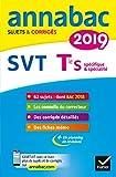 Annales Annabac 2019 SVT Tle S - Sujets et corrigés du bac Terminale S