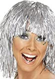 Cyber Tinsel Wig SILVER Costume Accessories Fancy Dress