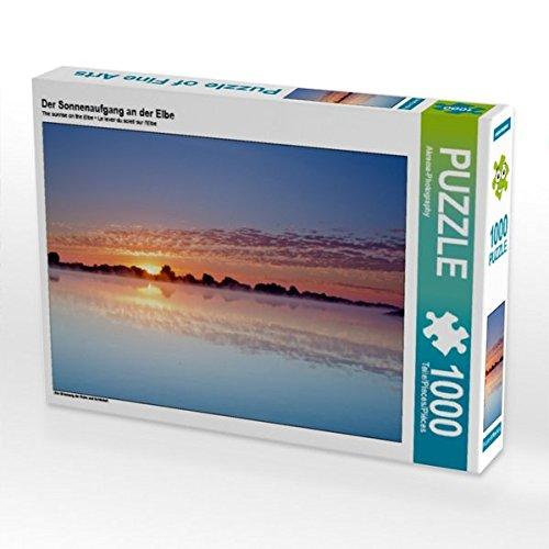 Der Sonnenaufgang an der Elbe 1000 Teile Puzzle quer: Ein Stimmung der Ruhe und Schönheit (CALVENDO Natur) (Ruhe Natur Der)