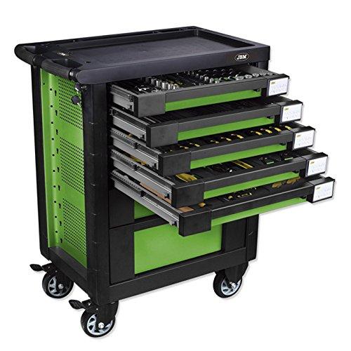 JBM vacío 52708carro de herramientas 7cajones verde