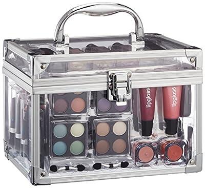 Vanity Case Make Up Cosmetic Set Case Travel Organizer Professional Nail Lip Eye 43 Piece
