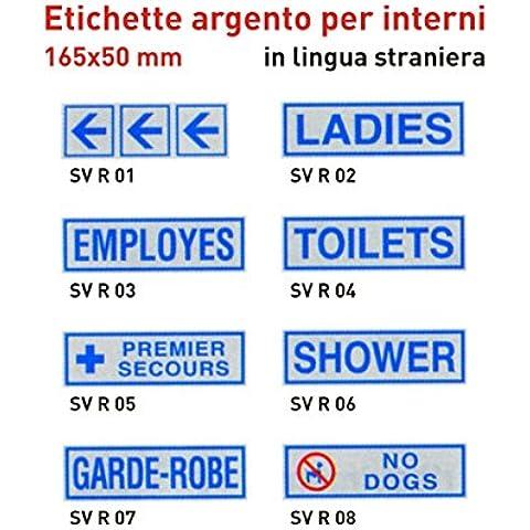 pack 10X Etichette argento per interni IN