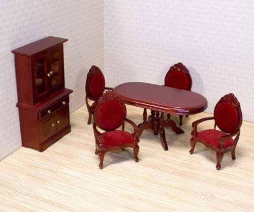 Puppenhausmöbel viktorianisch Esszimmer Holz