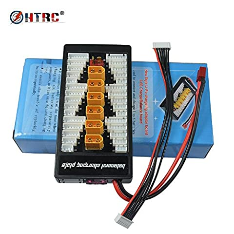 HTRC XT60 Parallel Charging Adapter Board 2-6s Lipo batteries Charger Plate for Imax B6 B6AC