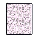 Yanteng Precisione cucita e resistente tappetino per mouse pad tappetino con motivo a padiglione impermeabile con base antiscivolo in gomma per studio mouse da gioco per ufficio per uomini e donne