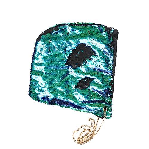 Kostüm Reversible Blue - Austinstore Fashion Pailletten Kette Meerjungfrauenhut Damen Festival Party Halloween Kostüm Cap - Lake Blue + Purple, Multicolor+Black, Einheitsgröße