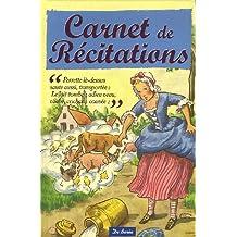 Carnet de Récitations