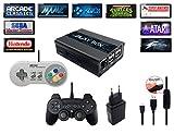 Console rétro Playbox, émulateur et media center – HDMI – émulateur de SNES, Megadrive, Sega, Nintendo, Mame, FBA, Kodi, Raspberry PI3 inclus 2 Manette