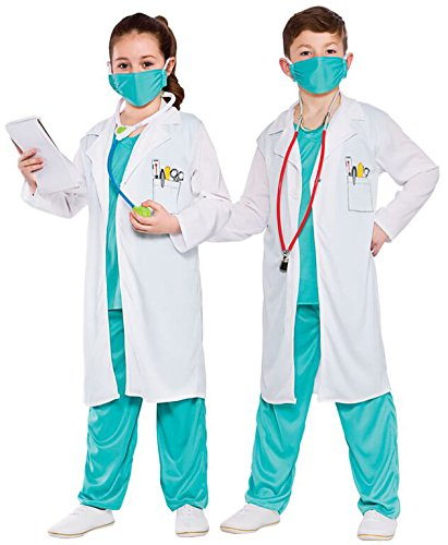 Lab Kostüm Coat White - Hospital Doctor - Unisex Kids Costume 5 - 7 years