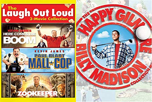 Happy Madison Mega Pack: Laugh Out Loud- Here Comes The Boom/ Paul Blart Mall Cop/ Zookeeper + Billy Madison/ Happy Gilmore (5 Feature Film -DVD Bundle) -