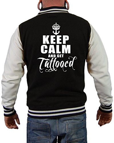 Keep calm and get tattooed Jacke Schwarz/Weiß