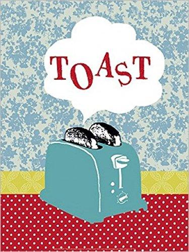 1art1 50368 Kochkunst - Retro-Toaster, Hélène Druvert Poster Kunstdruck 40 x 30 cm