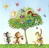 Quadratische Postkarte Nina Chen *** Teddy Häschen Maus