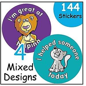 'Good Helper' reward stickers, teacher, children praise for good behaviour/work