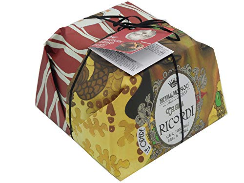 BRERAMILANO 1930 100% Made in Italy PANETTONE RICORDI LINE Pastry Masters, Classic and Authentic with Scented Raisins and Candied Sweets 1000gr.