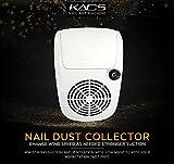 KADS, aspiratore regolabile per manicure, per l'aspirazione della polvere delle unghie, con 2sacchetti, potente aspirapolvere per unghie, dispositivo per saloni di bellezza