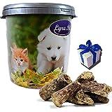 Lyra 10 kg Rinderlunge Pet Hundefutter Leckerli fettarm in 30 L Tonne + Geschenk
