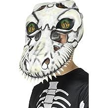 Smiffys Máscara de cráneo de T-Rex, Blanco, EVA, con Ojos lenticulares