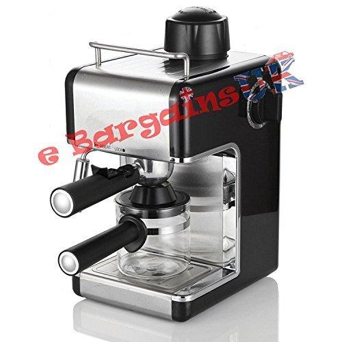 Cafetera de espresso o capuchino, eléctrica y profesional, para el hogar o la oficina. negro