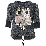 BEZLIT Mädchen Pullover Wende-Pailletten Sweatshirt 21584, Farbe:Anthrazit, Größe:128