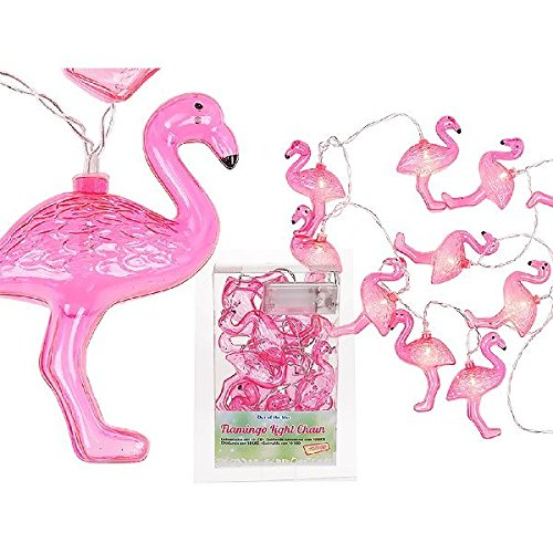Out of the blue Lichterkette Flamingo, Plastik, rosa, 13 x 12 x 13 cm -