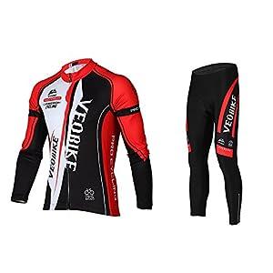 512BBJGvvkL. SS300 Asvert Abbigliamento Ciclismo Set Abbigliamento Sportivo per Bicicletta Traspirante Maglia Pantaloni da Uomo